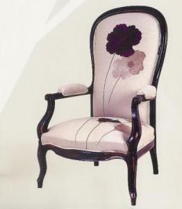 fauteuil voltaire fleurs