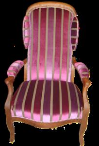 fauteuil_voltaire_rose_restauré